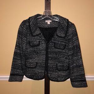 Loft Black, Grey, White & sparkly jacket